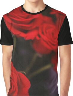 Analog photo of bunch bouquet of red roses Graphic T-Shirt
