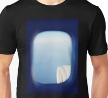 Plane wing in blue sky analogue 35mm film ra-4 darkroom photo Unisex T-Shirt