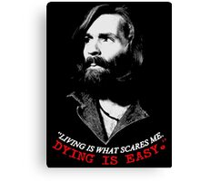 CHARLES MANSON DYING Canvas Print