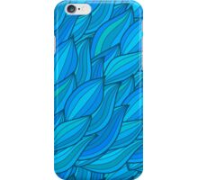 Abstract blue waves  iPhone Case/Skin