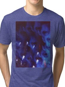 Swirls in Dark - analog 35mm color film photo Tri-blend T-Shirt