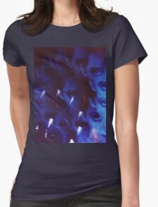 Swirls in Dark - analog 35mm color film photo Womens Fitted T-Shirt