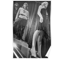 Shop dummy female mannequins black and white 35mm analog film photo Poster