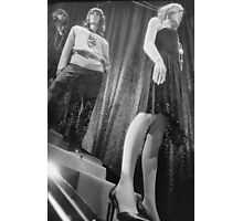 Shop dummy female mannequins black and white 35mm analog film photo Photographic Print