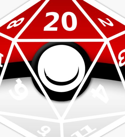 Pokeball D20 Sticker