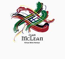 Clan McLean - Prefer your gift on Black/White tell us at info@tangledtartan.com  Unisex T-Shirt