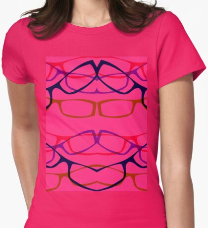 Four Eyes Womens Fitted T-Shirt