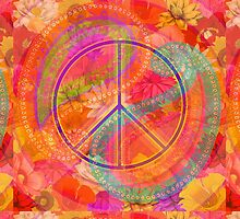 Hippie Chic Flowers Peace by DreaMground