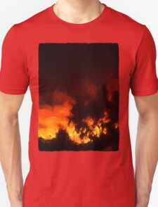 Weeping Tree Silhouette and Sunset 1 Unisex T-Shirt