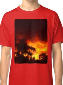 Weeping Tree Silhouette and Sunset 2 Classic T-Shirt