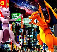 Mewtwo vs Charizard by ludvis