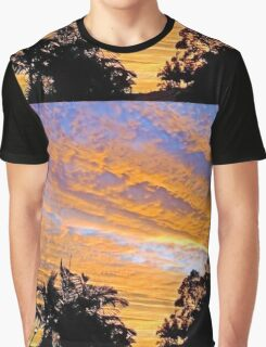 SUNSET OVER THE VILLAGE Graphic T-Shirt