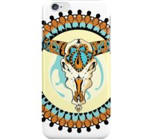 Decorative vector elelement with bull scull iPhone Case/Skin