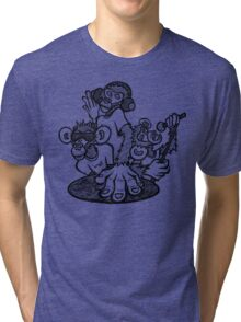 See no evil, hear no evil, speak no evil Tri-blend T-Shirt
