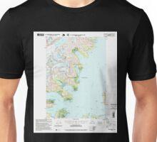 USGS TOPO Map Alaska AK Seward D-4 358998 1995 63360 Unisex T-Shirt