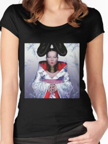 BJORK CUTE Women's Fitted Scoop T-Shirt