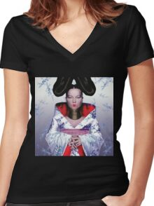 BJORK CUTE Women's Fitted V-Neck T-Shirt