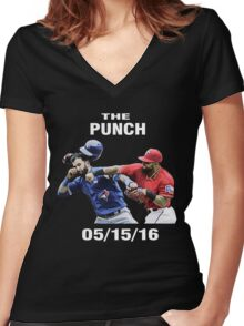 the punch texas Women's Fitted V-Neck T-Shirt