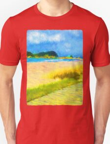 Cloudy Beach Unisex T-Shirt