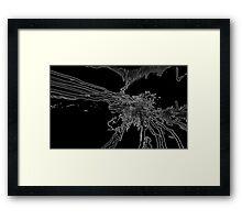 Black Lightning Framed Print