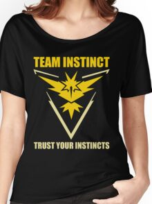 Pokemon Go - Team Instinct with Motto Women's Relaxed Fit T-Shirt