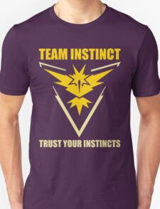 Pokemon Go - Team Instinct with Motto Unisex T-Shirt