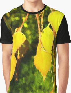 Golden Leaves Graphic T-Shirt