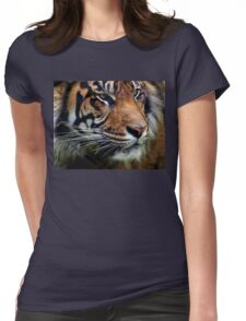 Sumatran Tiger Wildlife Big Cat-Lover Womens Fitted T-Shirt