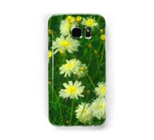 White and yellow daisies Samsung Galaxy Case/Skin