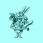 Rabbit stamp from Alice in Wonderland by fantasytripp
