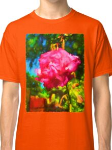 Pink Rose next to the Brick Wall Classic T-Shirt