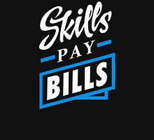 Skills Pay Bills - White Blue Unisex T-Shirt