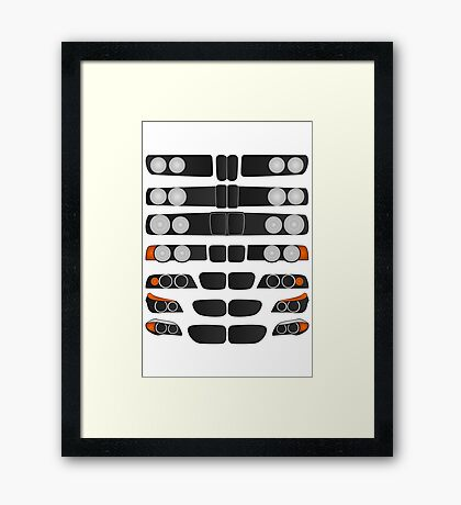 BMW 5 series evolution Framed Print