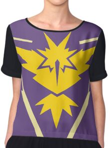 Pokemon Go - Team Instinct (no text) Chiffon Top