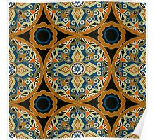 Seamless beautiful antique pattern ornament. Geometric background design, repeating texture. Poster
