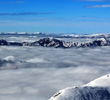 Above the Clouds at Treble Cone by Charles Kosina
