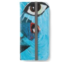 INTROCOSM contemporary mixed media artwork iPhone Wallet/Case/Skin