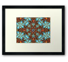 abstract tiles Framed Print