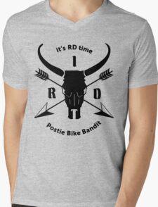 ItsRDtime Black logo Mens V-Neck T-Shirt