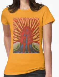 Outside Womens Fitted T-Shirt