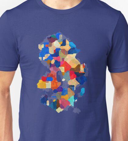 Puzzle tiles colorful Unisex T-Shirt
