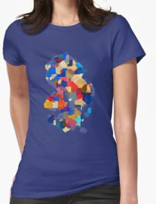Puzzle tiles colorful Womens Fitted T-Shirt
