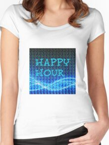 happy hour Women's Fitted Scoop T-Shirt