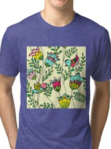 Cute Colorful Birds Tri-blend T-Shirt