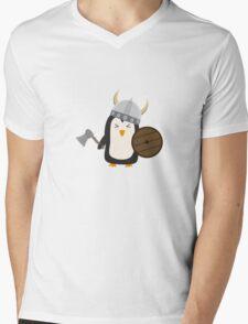 Penguin Viking   Mens V-Neck T-Shirt