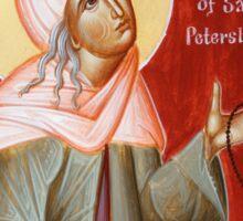 St Xenia of St Petersburg Sticker