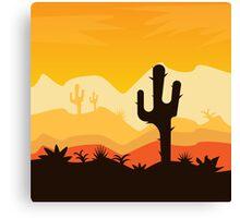 Desert Illustration Canvas Print