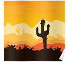Desert Illustration Poster