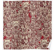 gargoyles red Poster