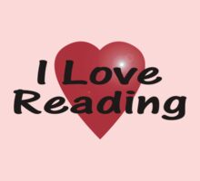 I Love Reading Sticker Bookworm T-Shirt Bedspread Story Book One Piece - Long Sleeve